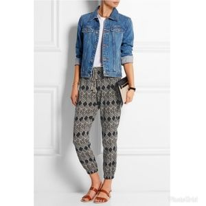 Madewell Tobago Printed Cotton Gauze Tapered Pants